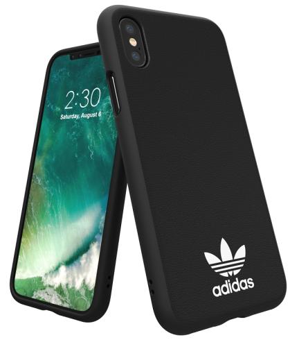 Adidas Iphone XS (2018) Moulded Back Phone Case Black logo